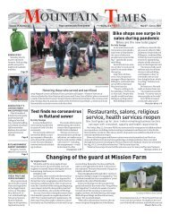 Mountain Times - Volume 49, Number 22 - May 27- June 2, 2020