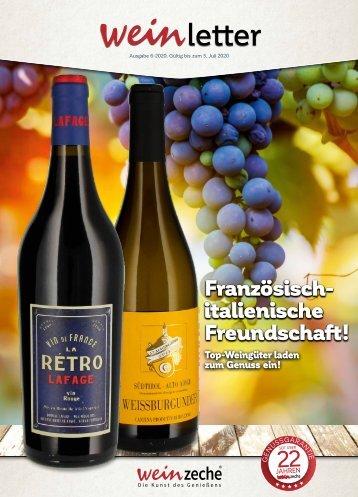Weinzeche Weinletter 6_2020 – Die Kunst des Genießens