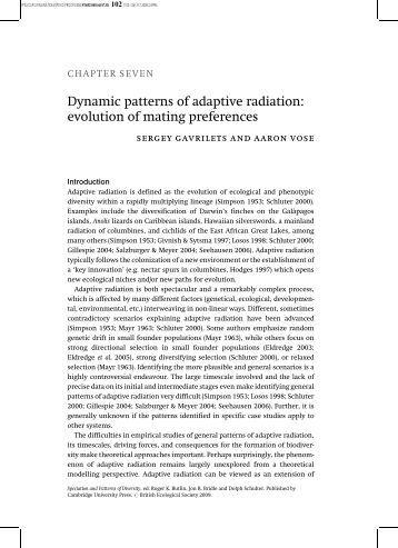 Examples of Adaptive Radiation | Evolutionary Biology
