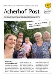 Acherhof-Post Nr. 10   29. Mai 2020