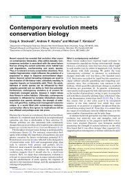 Contemporary evolution meets conservation biology