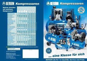 Kompressoren …eine Klassefürsich Kompressoren - Bergin