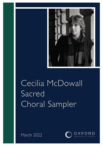 Cecilia McDowall sacred choral sampler
