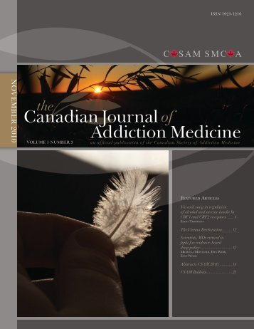 Drug Abuse Morbidity and Interventions - Canadian Society of ...