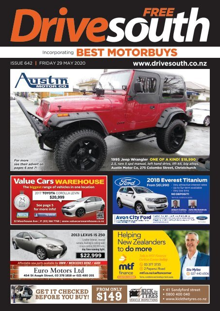 Best Motorbuys: May 29, 2020