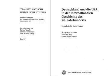 Deutschland und die USA in der Internationalen Geschichte des 20 ...