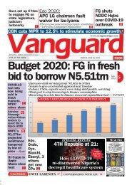29052020 - Budget 2020: FG in fresh bid to borrow N5.51trn