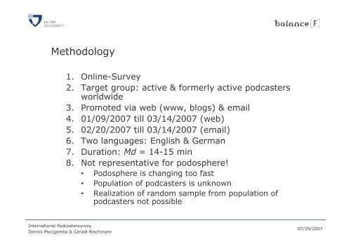 International Podcastersurvey