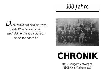 GZV Chronik 2001 - GZV 1901 Klein-Auheim eV
