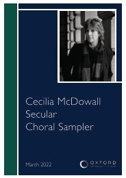 Cecilia McDowall secular choral sampler