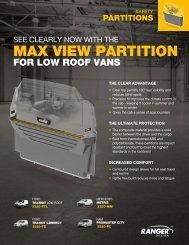 Ranger Design Max View Clear Van Partition Brochure