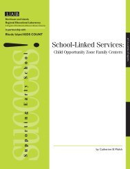 School-Linked Services: Child Opportunity Zone Family Centers