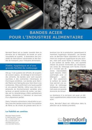 BANDES ACIER POUR L'INDUSTRIE ... - Berndorf Band Gmbh & Co.