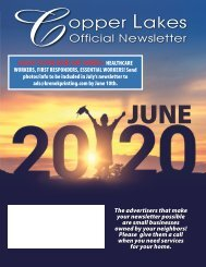 Copper Lakes June 2020