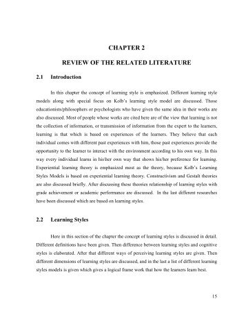 Chapter   Realated literature and Studies    literature review proposal example