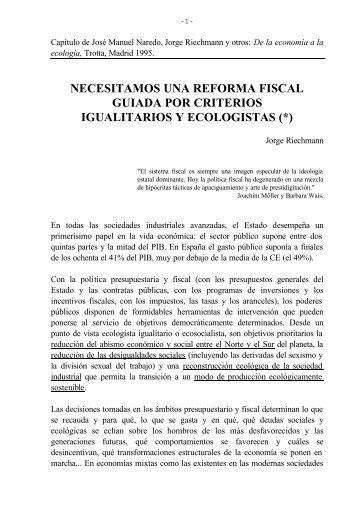 Riechmann 1995 reforma fiscal verde.DOC - Istas