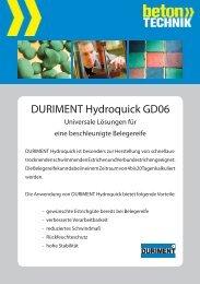 Hydroquick GD06 - Betontechnik