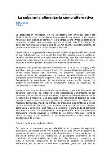 Epílogo del libro de Jorge Riechmann - ATTAC Madrid