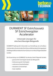 Hydroquick SF Estrichzusatz - Betontechnik
