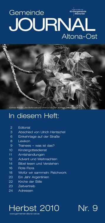 Gemeinde JOURNAL Winter 2010 - Ev.-Luth. Kirchengemeinde ...
