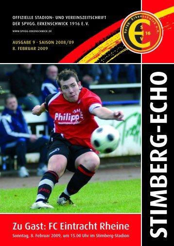 Zu Gast: FC Eintracht Rheine - SpVgg Erkenschwick