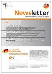 Newsletter - Exportinitiative Energieeffizienz