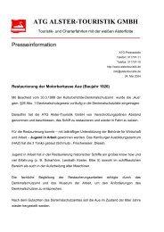 ATG ALSTER-TOURISTIK GMBH - Alster-Touristik GmbH Hamburg