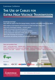 The Use of Cables for Extra High Voltage Transmission