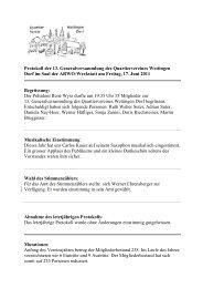 Protokoll 13. Generalversammlung vom 17.06.2010 - Quartierverein ...