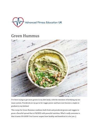 Recipe 3- Green Hummus