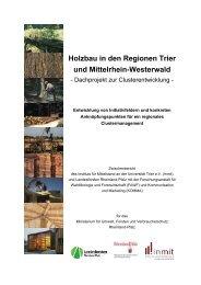 Holzbau in den Regionen Trier und Mittelrhein-Westerwald