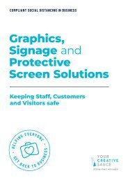 Graphics, Signage and Protective Screen Solutions from Your Creative Sauce