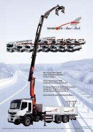 Unser neuer Kran-LKW, nimmt Ihnen diese Arbeit ab - Transporte ...