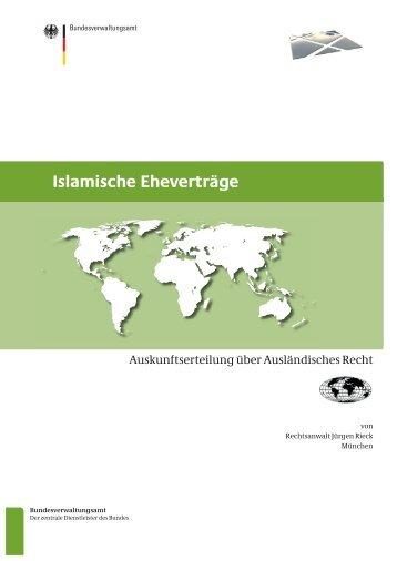 Islamische Eheverträge - Bundesverwaltungsamt