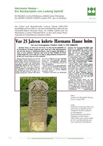 Hermann Haase - Ein Buchprojekt von Ludwig Uphoff - Bergedorf ...