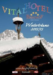 Aktuelle Winterpreisliste 2012/2013 JETZT ... - Vital-Hotel Berghof