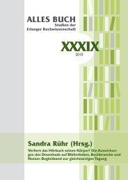 ALLES BUCH Studien der Erlanger Buchwissenschaft XXXIX