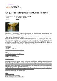 Ein gutes Buch für gemütliche Stunden im Herbst - fair-NEWS.de