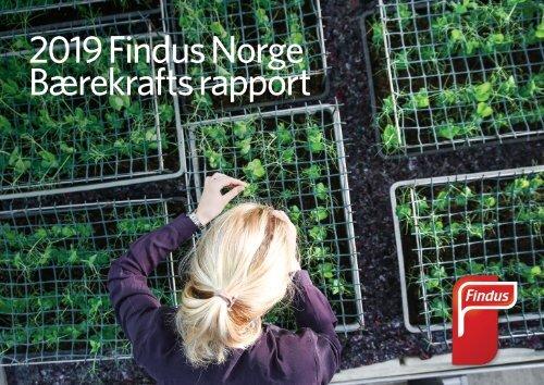 Bærekraftsrapport 2019- Findus Norge/Nomad Foods