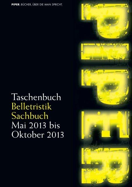 Piper Taschenbuch Sommer 2013 Mai-Oktober - Piper Verlag GmbH