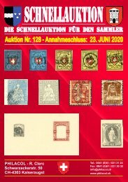 Philacol Philatelie Auktion vom 23. Juni 2020