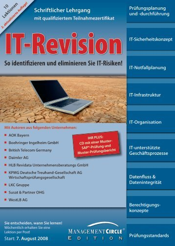 Schriftlicher Management-Lehrgang - Risikomanagement In It ...