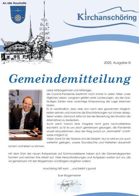 Gemeindemitteilung Kirchanschöring 2020-3