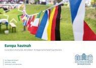 Broschüre zu grenzüberschreitenden Aktivitäten im Regionalverband