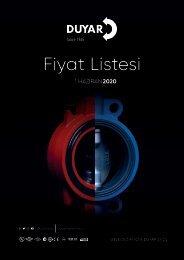 Duyar Vana Fiyat Listesi 2020