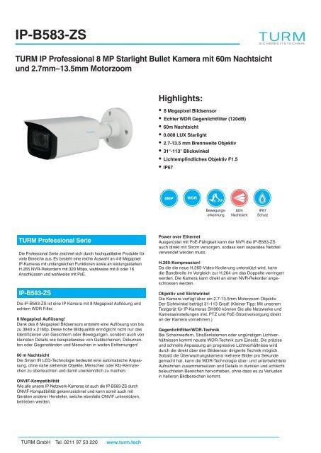 IP-B583-ZS Datenblatt