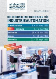 all about automation Ausstellerprospekt 2021