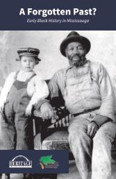 A Forgotten Past: Early Black History in Mississauga