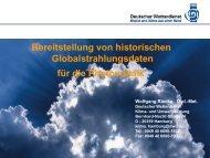 W. Riecke, DWD: Bereitstellung von Globalstrahlungsdaten für die