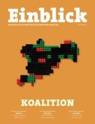CDU-Magazin Einblick (Ausgabe 9) - Sachsen-Koalition
